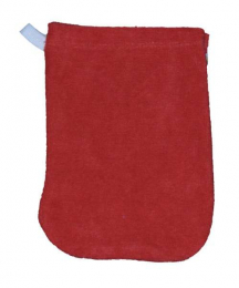 Gant de toilette Rouge - petit modèle - Popolini