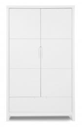 Armoire 2 portes 1 tiroir Quadro White Childhome