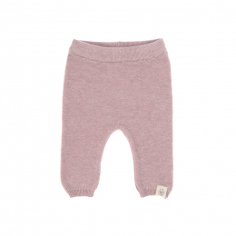 Pantalon tricoté coton bio et soie Garden Explorer Rose clair Lassig