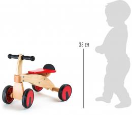 Bolide vélo en bois rouge Small foot