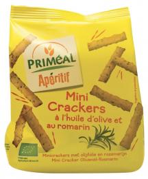Mini crackers à l'huile d'olive et au romarin 100 g bio Priméal
