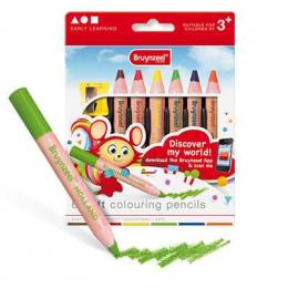Lot de 6 gros crayons - Bruynzeel