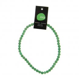 Aventurine  - Collier de pierres perles - Nia
