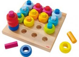 Mes anneaux multicolores - jeux à enficher - Haba
