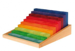 100 bloc de calcul et de construction arc-en-ciel - Grimm's