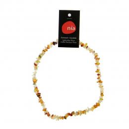 Carnéole - Collier baroque de pierres protectrices perles - Nia