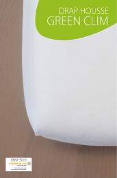 Drap housse blanc - GREEN CLIM - 60x120 cm - Kadolis
