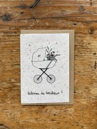 Carte à planter naissance - Éclosion de bonheur  - Les cartes de Lulu