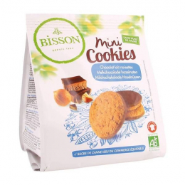 Biscuits Mini cookies Chocolat lait noisette 120g Bisson