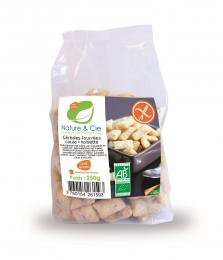 Céréales fourrées bio au cacao et noisette 250 g Nature et Cie