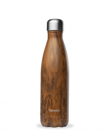 Bouteille Isotherme - 500ml - Bois - Qwetch