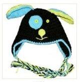 Bonnet Chien en crochet 100% coton