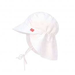 Chapeau casquette de soleil protège nuque Blanc Lassig