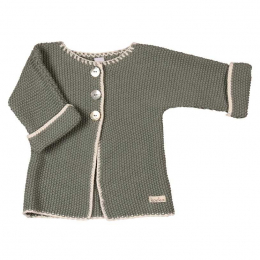 Cardigan tricoté moss - Olive green - Koeka