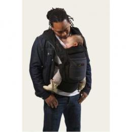 PhysioCarrier Coton Noir poche anthracite  - JPMBB - Je porte mon bébé