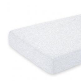 Drap housse lit en coton 60x120cm Gris chiné Bemini