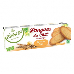 Biscuits Langues de chat épeautre 100g Bisson