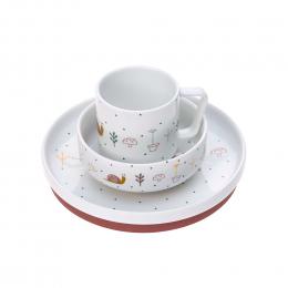 Coffret repas en porcelaine - Garden Explorer Escargot - Lassig