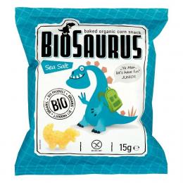 BIOSAURUS - chips de mais au sel marin BIO - 15g - vegan sans gluten