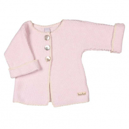 Cardigan tricoté moss - Water pink - Koeka