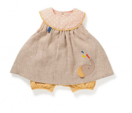 Combi bloomer lin Ovida Les papoum - Moulin Roty
