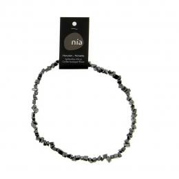 Hématite - Collier baroque de pierres protectrices perles - Nia