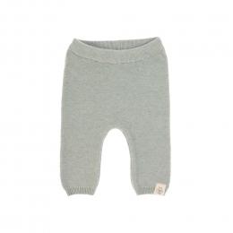 Pantalon tricoté coton bio et soie Garden Explorer Aqua Gris Lassig