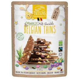 Chocolat Lait à casser Belgian Thins Caramel et dragées Belvas