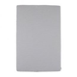 Housse matelas à langer 60x85cm rayure gris ecru twin jersey Bemini