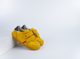 Chaussures Bobux - Step Up - Riley Chartreuse + Navy