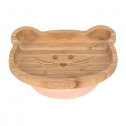 Assiette en bambou avec ventouse - Little Chums Souris - Lassig