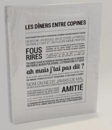 Affiche 'Les dîners entre copines' TOUT EST DIT