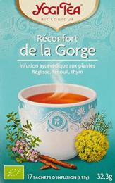 Infusion ayurvédique aux plantes Réconfort de la Gorge Yogi Tea