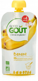Compote BIO - Purée de fruits - Banane - GoodGout