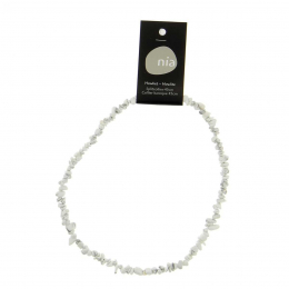 Howlite - Collier baroque de pierres protectrices perles - Nia