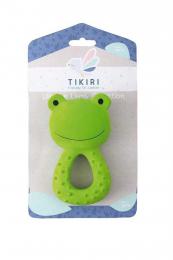Anneau de dentition caoutchouc naturel grenouille Tikiri