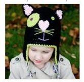 Bonnet Chat en crochet 100% coton