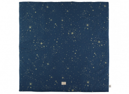 Couverture de sol / tapis de sol Colorado - 100x100 - gold stella/ night blue  - Nobodinoz