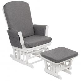 Fauteuil d'allaitement Gliding Chair Linen grey Qwax