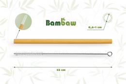 Pailles en bambou 22cm - 6 unités - Bambaw