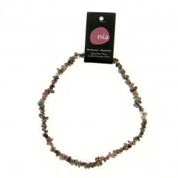 Rhodonite - Collier baroque de pierres protectrices perles - Nia