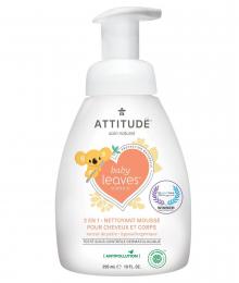 Nettoyant mousse pour cheveux et corps Nectar de poire Attitude