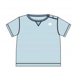 T-shirt Palm bach soft blue - Koeka