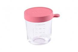 Pot en verre 250 ml rose foncé Beaba