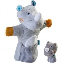 Marionnette Rhinocéros et son bébé Haba