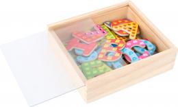 Lettres magnétiques colorées en bois Small foot
