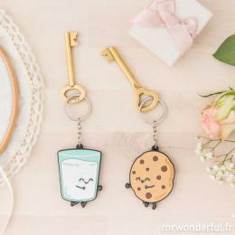Lot de 2 porte-clés - Pour des couples vraiment inséparables FR - Mr Wonderful
