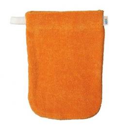 Gant de toilette orange - petit modèle - Popolini