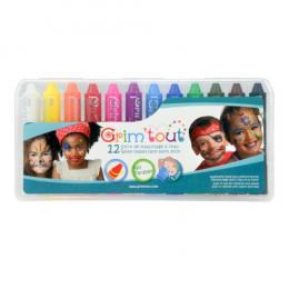 12 crayons à maquillage rainbow - Grim'tout