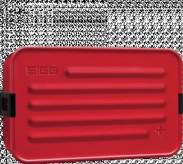 Boîte repas alu L Rouge avec insert silicone - Sigg